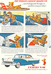 Click here to enlarge image and see more about item ad0365: Ford V-8 1956 Ad