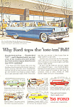 Click here to enlarge image and see more about item ad0370: Ford Station Wagon Full Line 1956 Ad