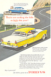 Click here to enlarge image and see more about item ad0371: Ford Fairlane Fordor Victoria 1956 Ad