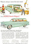 Click here to enlarge image and see more about item ad0373: Ford Ranch Wagon 1954 Ad
