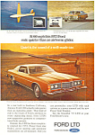 Click here to enlarge image and see more about item ad0377: Ford LTD 2 Door Brougham 1973  Ad ad0377