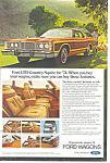 Click here to enlarge image and see more about item ad0378: Ford LTD Country Squire 1974  Ad ad0378
