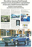 Click here to enlarge image and see more about item ad0379: Ford Granada 4-Door 1977  Ad ad0379