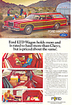 Click here to enlarge image and see more about item ad0380: Ford LTD Country Squire 1977  Ad ad0380