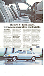 Click here to enlarge image and see more about item ad0394: Ford Tempo Ad ad0394