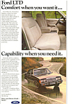 Click here to enlarge image and see more about item ad0395: Ford LTD Ad
