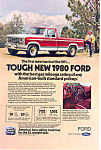 Click here to enlarge image and see more about item ad0396: Ford Tough New 1980 Truck Ad