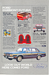 Click here to enlarge image and see more about item ad0397: Ford Fairmont Futura Ad ad0397