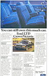 Click here to enlarge image and see more about item ad0399: Ford LTD Crown Victoria Ad ad0399