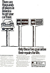 Click here to enlarge image and see more about item ad0402: Ford Lifetime Service Guarantee  Ad ad0402