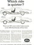 Click here to enlarge image and see more about item ad0406: Ford Quiet Ride  Ad ad0406