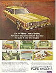 Click here to enlarge image and see more about item ad0407: Ford Country Squire 1973  Ad ad0407