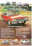 Click here to enlarge image and see more about item ad0408: Ford Fairmont 1978 Ad