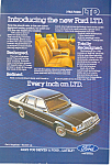 Click here to enlarge image and see more about item ad0409: Ford LTD 1983 Ad ad0409