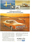 Click here to enlarge image and see more about item ad0410: Ford LTD 2-Door Brougham 1973 Ad ad0410
