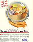 Click here to enlarge image and see more about item ad0411: Ford in your Future 1945 Ad