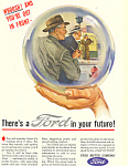 Click here to enlarge image and see more about item ad0413: Ford in your Future 1945 Ad
