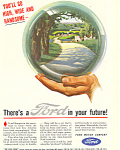 Click here to enlarge image and see more about item ad0414: Ford in your Future 1945 Ad ad0414