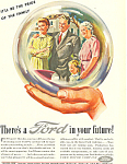 Click here to enlarge image and see more about item ad0417: Ford in your Future 1945 Ad