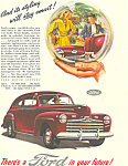 Click here to enlarge image and see more about item ad0418: Ford in your Future 1946 Ad