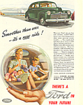Click here to enlarge image and see more about item ad0419: Ford in your Future 1945 Ad