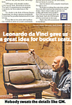 Click here to enlarge image and see more about item ad0426: General Motors Leonardo da Vinci  Ad ad0426