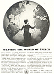 Click here to enlarge image and see more about item ad0429: A T & T World of Speech  Ad