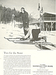 Click here to enlarge image and see more about item ad0434: First National City Bank Skiing  Ad
