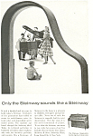 Click here to enlarge image and see more about item ad0440: Steinway Hepplewhite piano  Ad