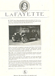 Click here to enlarge image and see more about item ad0451: LaFayette Motors Company 1920 Ad
