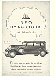 Click here to enlarge image and see more about item ad0457: Reo Flying Cloud Eight 1930 Ad
