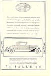 Click here to enlarge image and see more about item ad0460: La Salle V8 1931 Ad ad0460