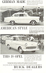 Click here to enlarge image and see more about item ad0462: Opel 1959 Ad
