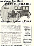 Click here to enlarge image and see more about item ad0465: Essex Coach 1924 Ad