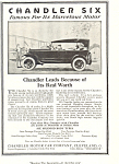 Click here to enlarge image and see more about item ad0466: Chandler Six 1920 Ad ad0466