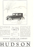 Click here to enlarge image and see more about item ad0467: Hudson 1924 Ad