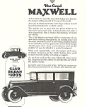 Maxwell  Club Sedan 1924 Ad