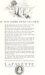 Click here to enlarge image and see more about item ad0475: Lafayette 1922 Ad