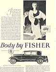 Click here to enlarge image and see more about item ad0477: Body by Fisher 1927 Ad