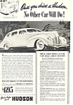 Click here to enlarge image and see more about item ad0484: Hudson Six Touring Sedan 1939 Ad ad0484