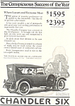 Click here to enlarge image and see more about item ad0487: Chandler Six 1922 Ad ad0487