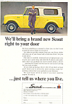 Click here to enlarge image and see more about item ad0492: Scout International Harvester 1964 Ad