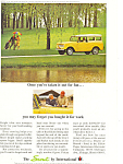 Click here to enlarge image and see more about item ad0497: Scout International Harvester 1964 Ad
