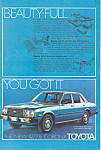 Click here to enlarge image and see more about item ad0501: Toyota Corona Sedan 1977 1 2 Ad ad0501
