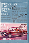 Click here to enlarge image and see more about item ad0502: Toyota 5 Door Wagon 1976 Ad