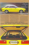 Click here to enlarge image and see more about item ad0505: Toyota Corolla Liftback 1980 Ad