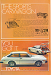 Click here to enlarge image and see more about item ad0506: Toyota Corolla Liftback 1977 Ad ad0506