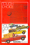 Click here to enlarge image and see more about item ad0507: Toyota Full Line Truck 1977 Ad