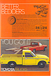 Click here to enlarge image and see more about item ad0508: Toyota Long Bed Truck 1977 Ad