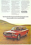 Click here to enlarge image and see more about item ad0509: Toyota Corona 4 Door Sedan Ad ad0509